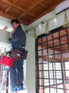 名古屋市内神社の防犯カメラ 設置完了