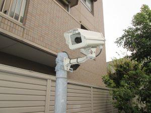 施設の防犯カメラ