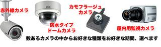レンタル防犯カメラ 種類