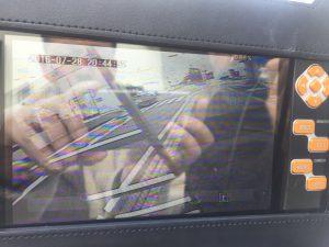 街頭防犯カメラ映像確認中