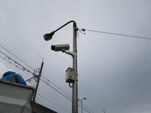 自治体の防犯カメラ