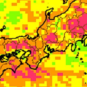 愛知、岐阜、三重で落雷の多い地域